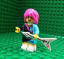 Lego Guitarist Rocker Girl Minifigures Guitar Pink Hair City Town 8831 Series 7