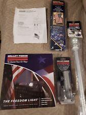 Valley Forge Aluminum 5' Residential Flag Kit q/ Flag House Bracket Solar Light