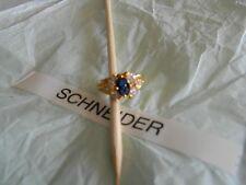 Premier Designs ENGLAND'S ROSE blue cz ring sz 5 RV $39 FREE ship w/bin