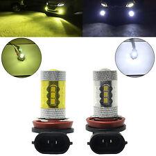2x H11 H8 LED Fog Light Samsung 2323 80W 6000K White 4300K Yellow DRL Bulbs