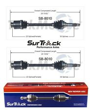 2 Front CV Axle Shafts SurTrack Set for Subaru Justy Brat Standard DL GL 80-88