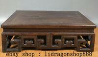 """14"""" Antique Chine Huanghuali Bois Sculpture Dynastie Table Bureau Ancien Meubles"""