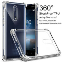 Shockproof Clear Slim Soft TPU Case Cover For Nokia 5 6 7 8.1 7 Plus 4.2 3.2 2.2
