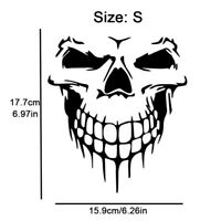 Funny Car Window Stickers Reflective Skull Mark Auto Body Decal Vinyl 16 x 18 CM