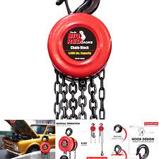 Big Red Tr9020 Torin Manual Hand Lift Steel Chain Block Hoist With 2 Hooks 2