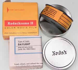 Kodachrome II 25ft. Daylight Double 8mm Color Movie Film