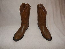 Justin Western Boots Womens Leather Square Burnish Wood Brown JBL1100 7.5 C
