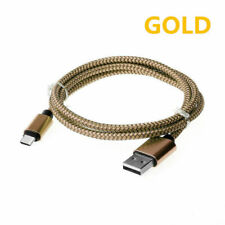 Gold 25cm Type-C USB 3.1 Fast Charging Data Cable Nylon Braided USBC