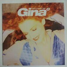 "Gina G. Every Time I Fall Maxisingle 12"" UK ed. limitada en vinilo"