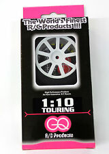 GQ 35 SHORE 30mm 1/10 REAR FOAM TYRES on WHITE RIMS *Free Shipping if combined*