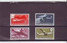 a109 - LIECHTENSTEIN - SG395-398 MNH 1960 30th ANNIV 1st STAMPS - AIRCRAFT