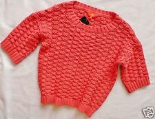 BNWT NEXT ladies PINK loose knit oversized waist jumper short sleeve size 14/16