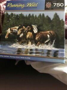 Masterpiece Puzzle RUNNING WILD Series 'Heading Upstream' 750pc NEW