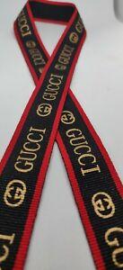 Christmas gift Designer ribbons 25mm brand theme 1 metre length Grosgrain Luxury
