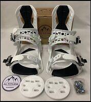 "MEN'S ALTITUDE ""RIDER"" 4X4 BURTON 3D EST SNOWBOARD BINDINGS (WHITE) L/XL 9-13"