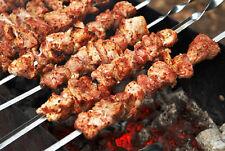 Set of 10 Stainless Steel Skewers for Shashlik Shampur Kebab BBQ Meat Mangal