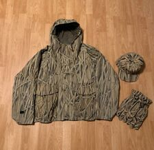 VTG Caleba's Cattail Camo Gore-Tex Jacket Men's Large, Hat, Gloves Made In USA