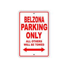 Belzona Parking Only Boat Ship yacth Marina Lake Dock Aluminum Metal Sign