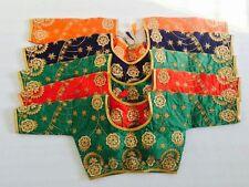 indian bollywood SARI EMBROIDERY READYMADE CHOLI blouse saree 3/4 sleeve SELECT
