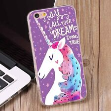 Cute Unicorn Pattern Thin Soft TPU Phone Case Cover for iPhone 6 6s Plus 7 7Plus