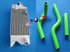 Aluminum Radiator & hose for KAWASAKI KX80 KX85 KX100 1998-2009 99 00 01 02 03