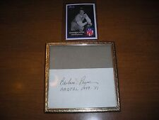 Aagpbl, Barbara Payne 1949-51, Rockford Peaches, autograph w/card, ex condition