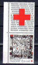 FRANCE TIMBRE CROIX ROUGE AVEC VIGNETTE 2449 ** MNH G VIEIRA DA SILVA - 1986