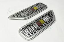 2Pcs RALLI ART Aluminum Auto Front Side Sticker Badge Fender Emblem For L200 RVR