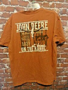 JOHN DEER * at home on the range* Mens t shirt sz XL New color~farming~hunting