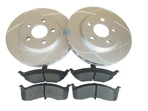 Front Disc Brake Rotors & Ceramic Pads Set for Dodge Caravan Grand Caravan 96-00