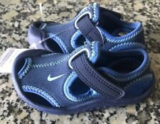 new style 2cfc7 ff1ea NIKE SUNRAY PROTECT BLUE SANDAL LITTLE BOYS TODDLER SIZE 4C