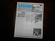 BMW Legend 1984 July Magazine Motorcycle Dealers R100 Police Bike