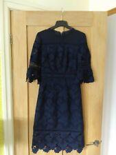 Vestido de Encaje Whistles Azul Marino Talla 6
