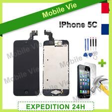 ECRAN IPHONE 5C NOIR COMPLET VITRE TACTILE + LCD RETINA SUR CHASSIS + FILM
