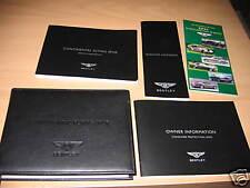 2006 BENTLEY FLYING SPUR OWNERS MANUAL SET OWNER'S