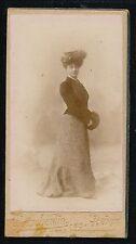 Petite CDV Mignonette c. 1900 - Femme Elégante Ph. Chamberlin 4