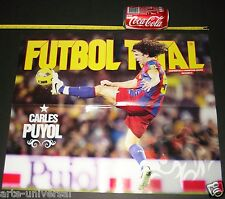 POSTER BARCELONA CARLES PUYOL VS MANCHESTER UNITED CHAMPIONS SPAIN FUTBOL MESSI