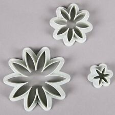 3 Piezas Daisy Sugarcraft Decoración De Pasteles De Fondant glaseado de émbolo de cortadores de herramientas