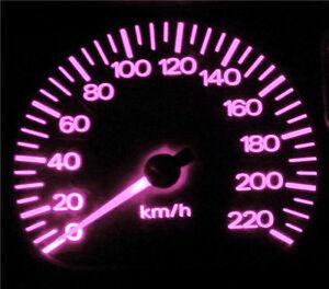 Mazda 121 DB Pink LED Dash Cluster Light Upgrade Kit
