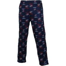 Columbus Blue Jackets NHL Youth Size L Allover Logo Pajama Pants - Navy Blue