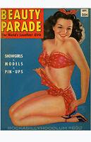 Pin Up Girl Poster 11x17 Eyeful magazine cover art Burlesque Models