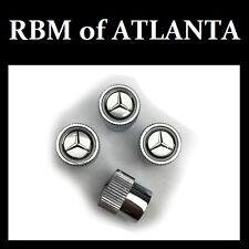 Genuine Mercedes Benz MB Star Valve Stem Caps - Silver