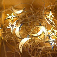 Ramadan Muslim Islamic Eid LED Fairy String Lights Moon Star Mubarak Homes Decor