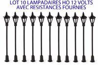 JOUEF LIMA ROCO LOT DE 10 LAMPADAIRE A LED   HO 1/87  65 MM   TRAINS ELECTRIQUE
