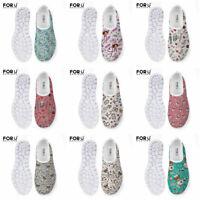 Women Nurse Shoes Breathable Mesh Sneakers Casual Walking Slip On Flat Shoes