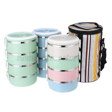 4 Layer Stainless Thermo Insulated Thermal Food Container Bento Lunch Box