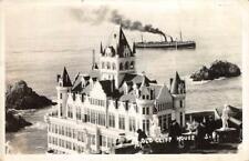 RPPC OLD CLIFF HOUSE San Francisco, CA 1946 Vintage Photo Postcard
