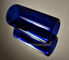 """Real BottleNeck SLide Hand Polished Blue 2"""" Resonator 00 Steel National Guitar"""