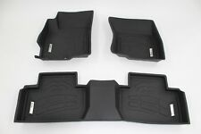 First & Second Row Floor Mats in Black for 2007 - 2020 Mitsubishi Outlander
