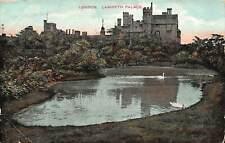 London Lambeth Palace Lake Swan Birds Postcard
